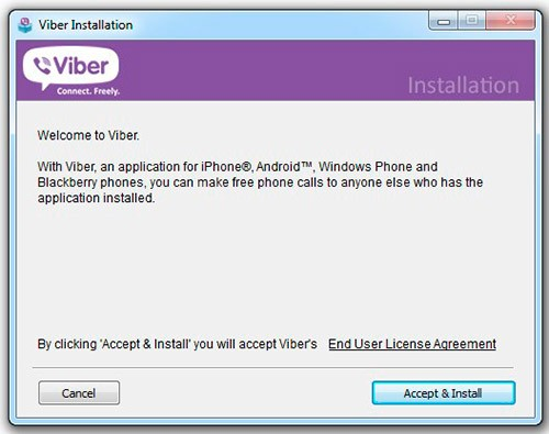 Установка Viber на компьютер